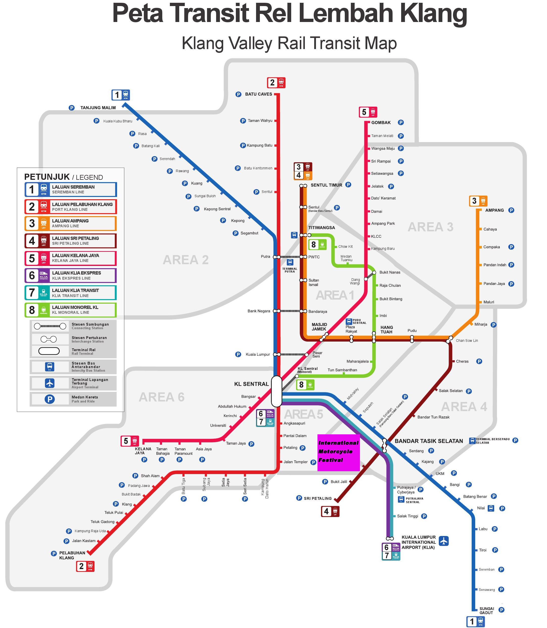 Куала лумпур схема общественного транспорта